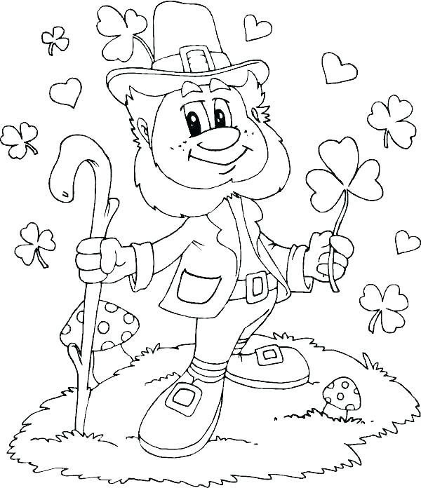 600x696 Ireland Coloring Pages Coloring Pages Leprechaun Coloring Pages
