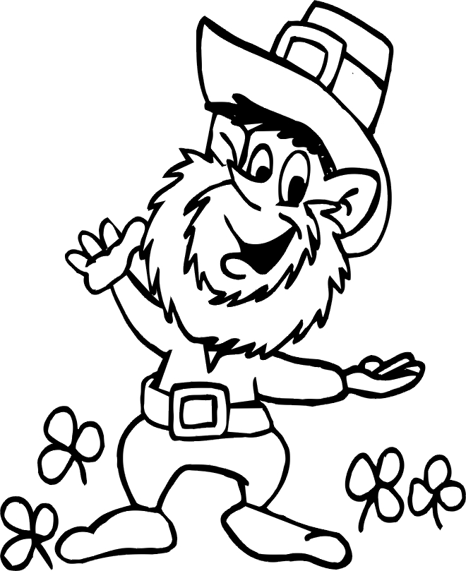 Leprechaun Coloring Pages Printable Free