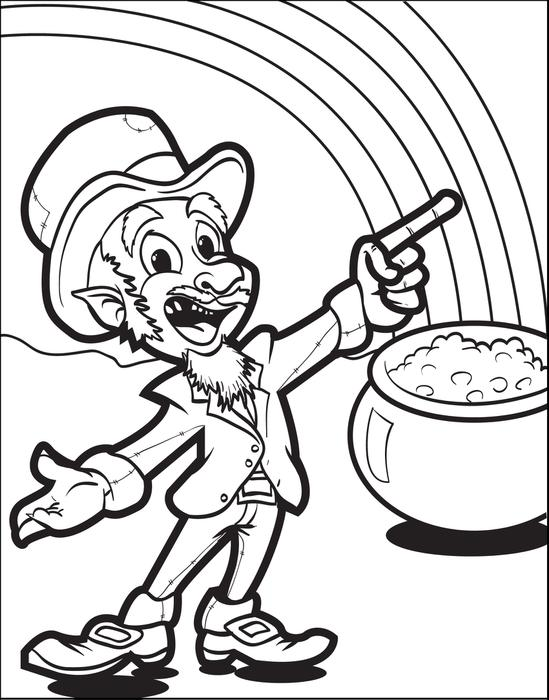 549x700 Leprechaun Coloring Pages To Print