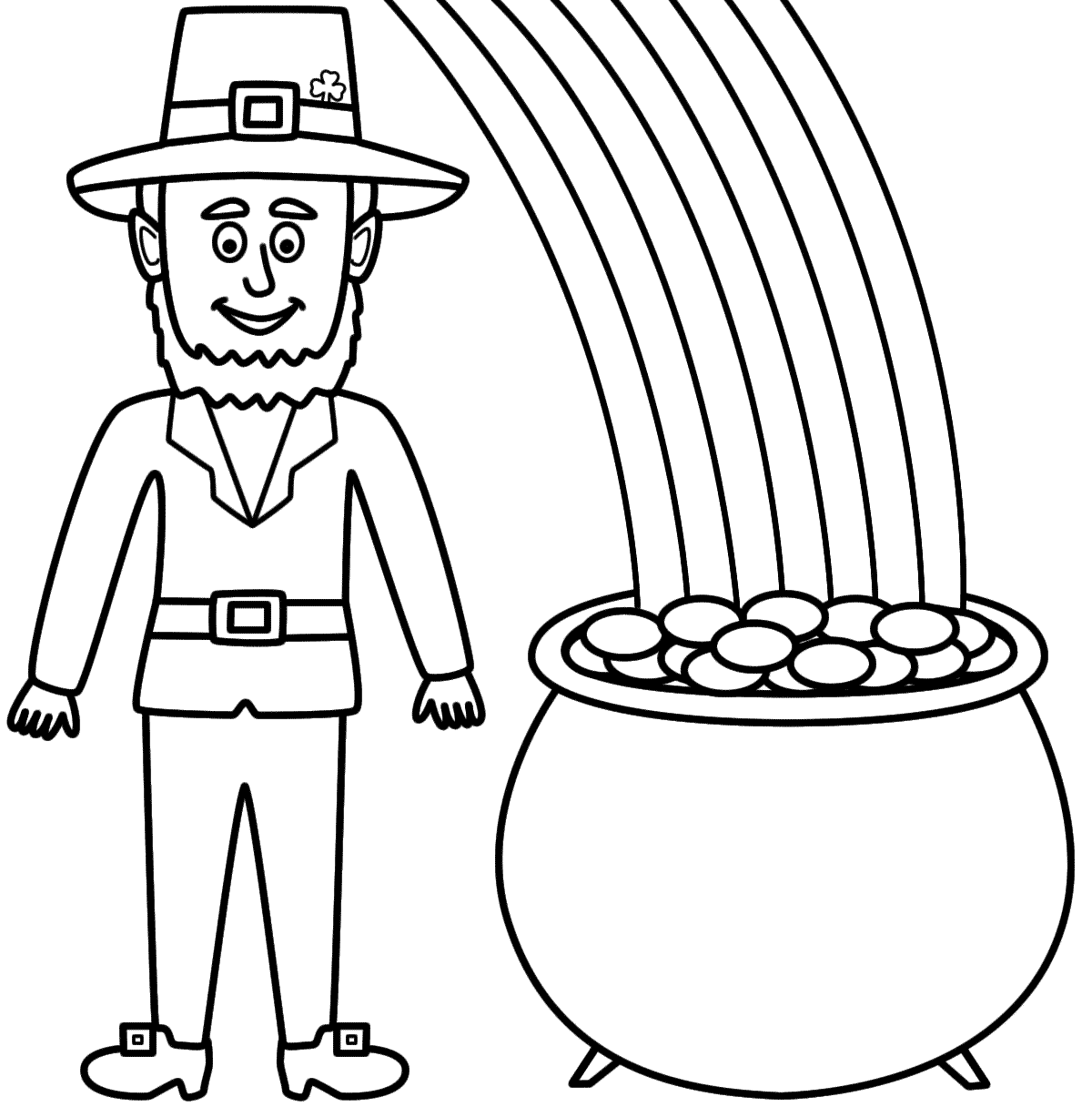 1200x1216 Project Ideas Leprechaun Coloring Pages Printable To Print