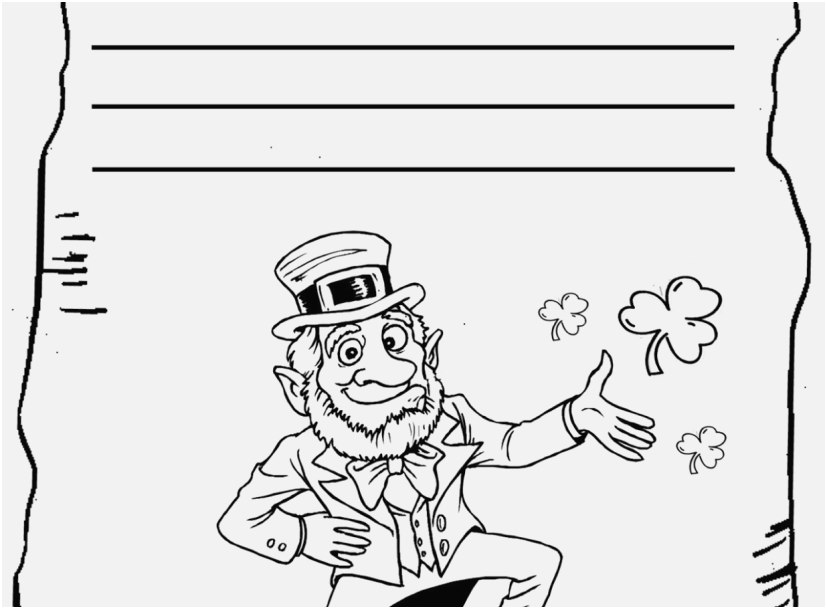 827x609 Top Rated Display Leprechaun Coloring Pages To Print Most Popular