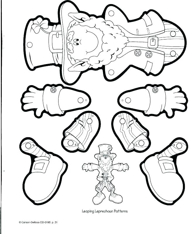 646x800 Leprechaun Coloring Pages Free