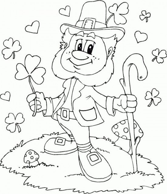 550x638 Leprechaun Coloring Page Coloring Page Love