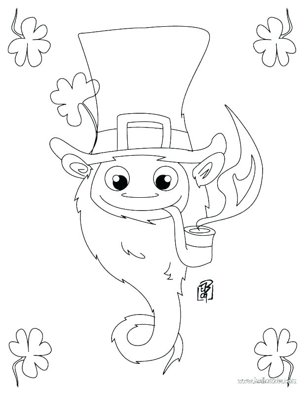618x799 Pot Of Gold Coloring Page Leprechaun Coloring Pages To Print Gold
