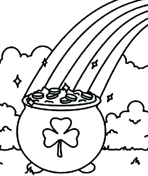 600x714 Pot Of Gold Coloring Pages A Sparkling Pot Of Gold For St Day