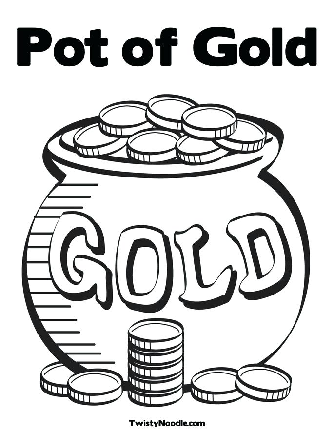 685x886 Rainbow And Pot Of Gold Coloring Pages Pot Of Gold Coloring Pages