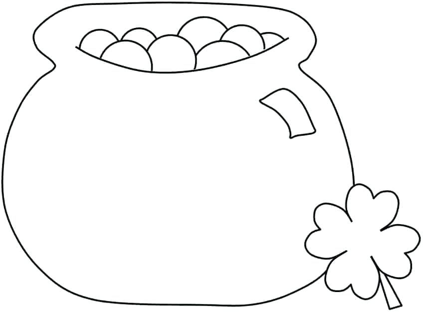 848x625 Gold Coloring Pages Rainbow Coloring Page Pot Of Gold Coloring