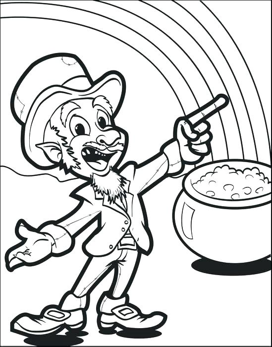549x700 Gold Coloring Pages Tarantula Coloring Page Leprechaun With Pot