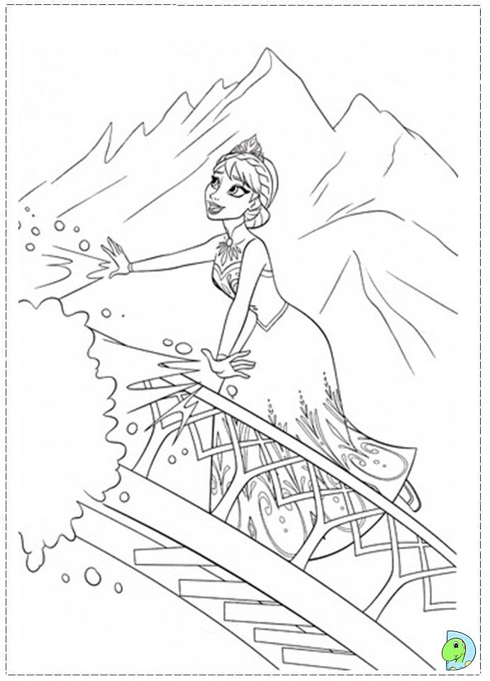 Let It Go Coloring Page