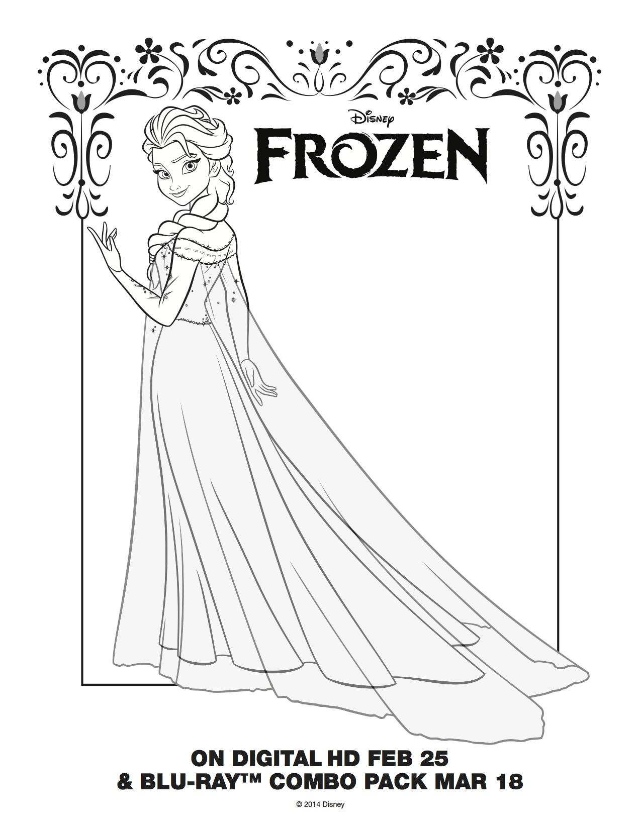 1275x1650 Frozen Coloring Pages Elsa Let It Go Let It Go Coloring Pages