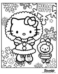 200x254 Hello Kitty Christmas Coloring Pages Here Are Two Hello Kitty