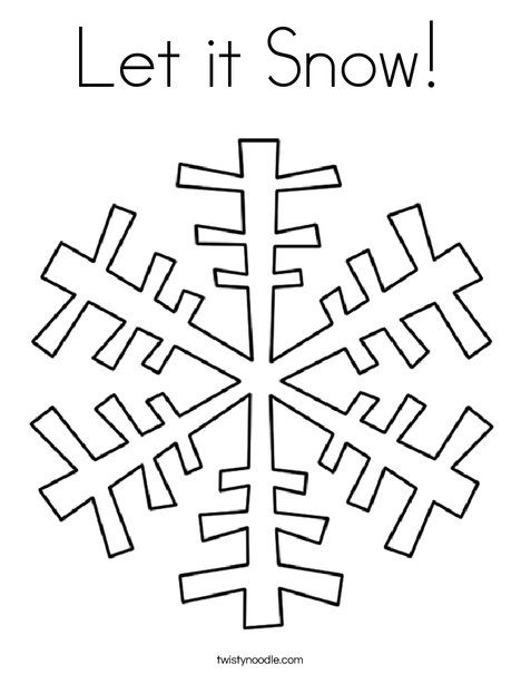 468x605 Let It Snow Coloring Page