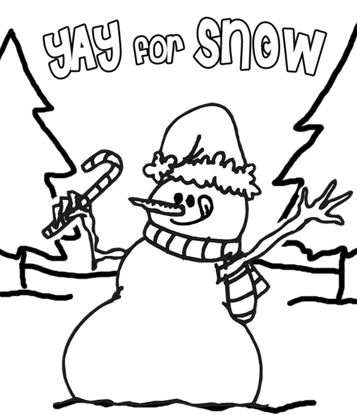 1241x1443 Snow Coloring Pages