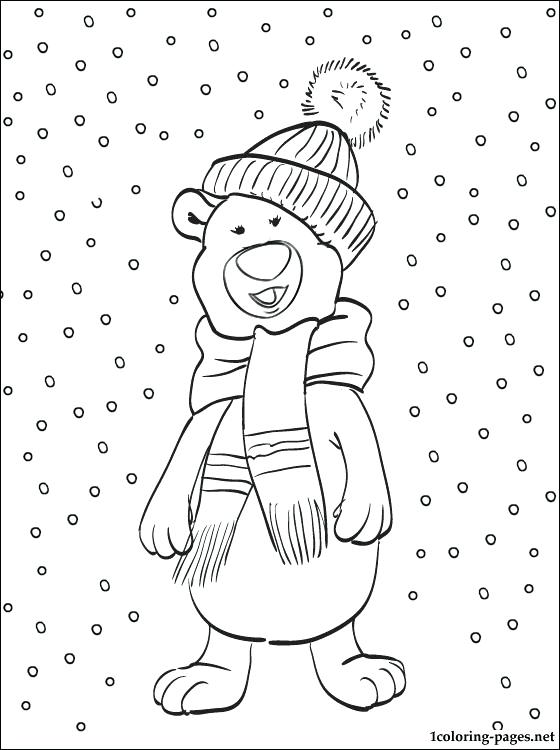 560x750 Snow Coloring Pages Bonanza Snow Coloring Sheets Pages With Winter