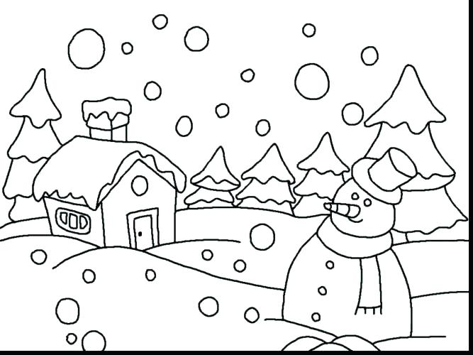 Let It Snow Coloring Pages At Getdrawings Com Free For Personal