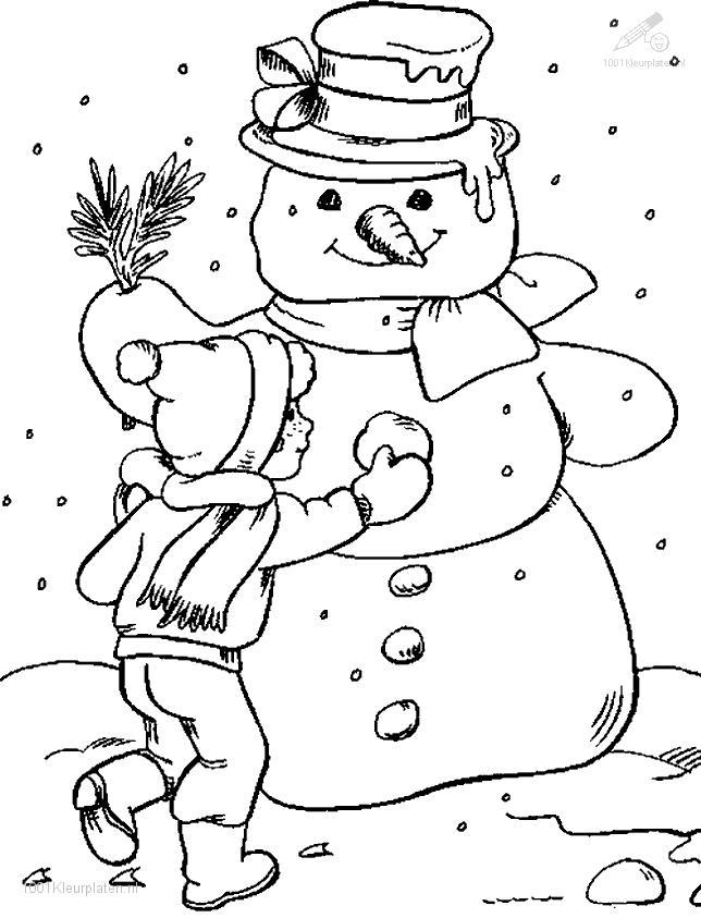 644x843 Snow Coloring Pages Printable Free Coloring Pages