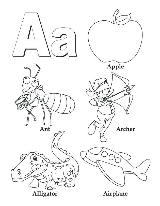 630x810 Coloring Pages Letter A A Colouring Sheet My A To Z Coloring Book