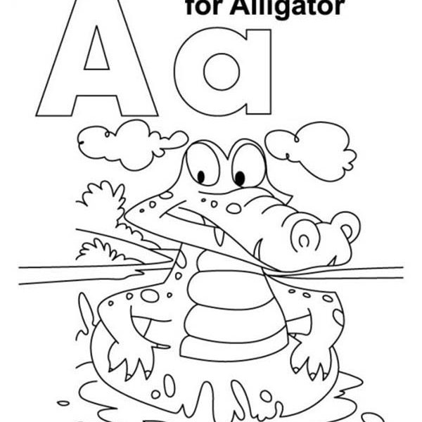 600x600 Coloring Pages Of Letter A A Coloring Pages Letter A Colouring