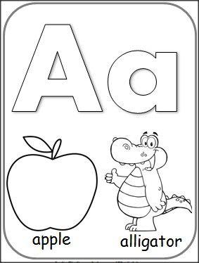 283x374 Letter A Alphabet Card For Coloring Teacher September