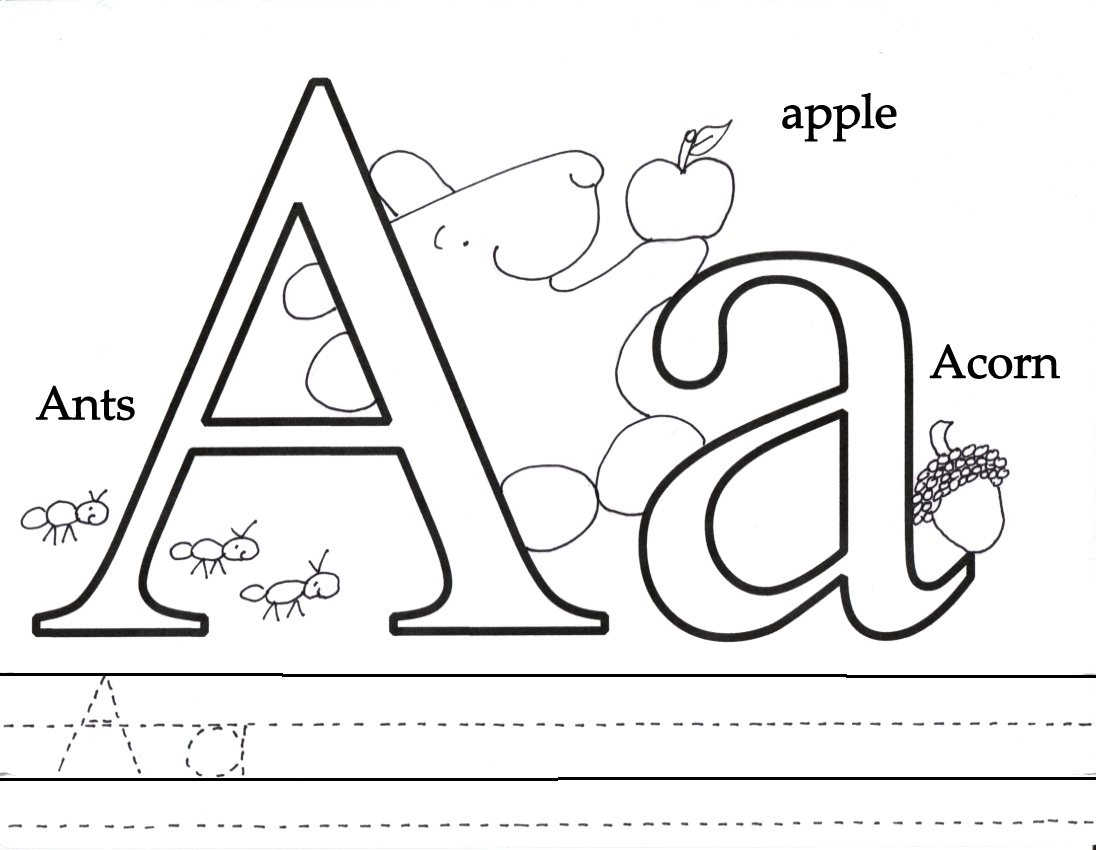 1096x850 Letter Aa Coloring Pages