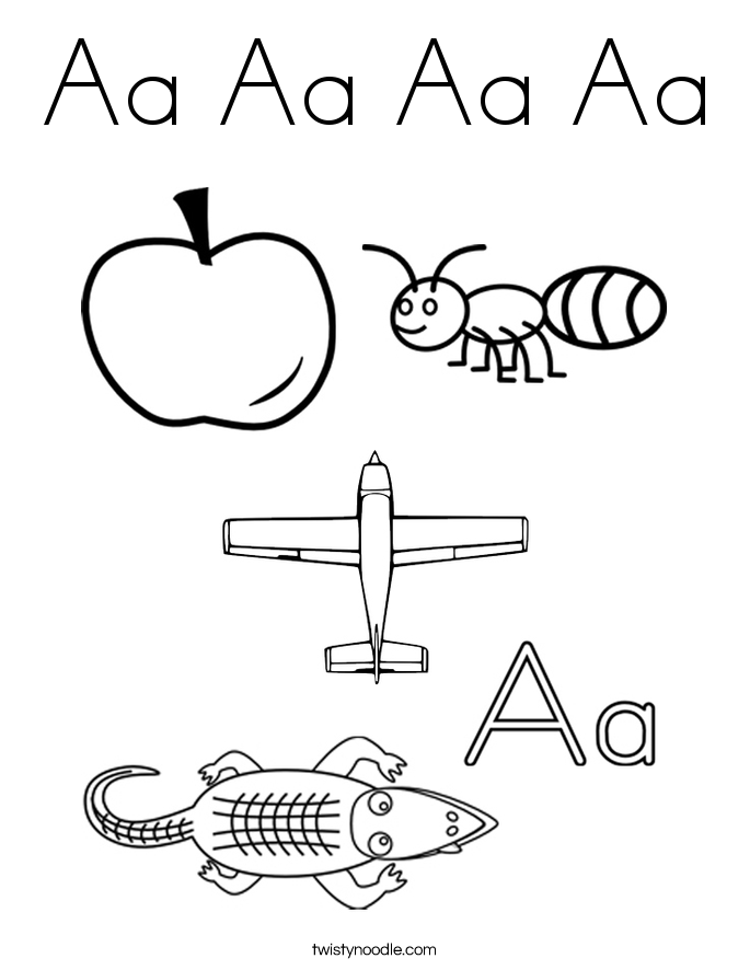 685x886 Letter Aa Tracing Pages