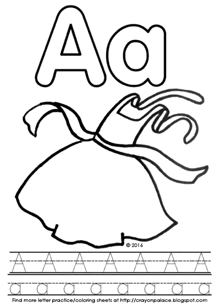 429x606 A Is For Apron Alphabet Coloring Page Crayon Palace