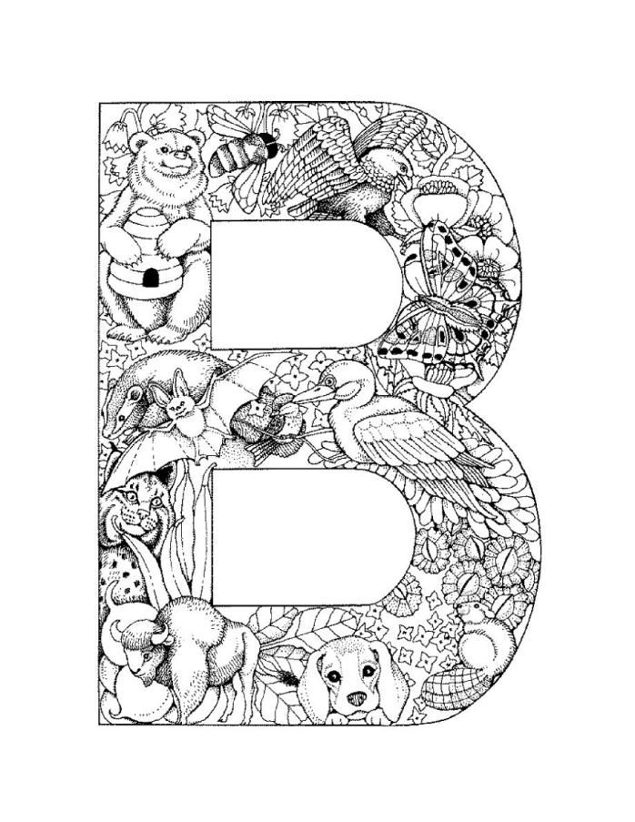 698x903 Letter B Coloring Pages For Adults Letterbpictureprintable