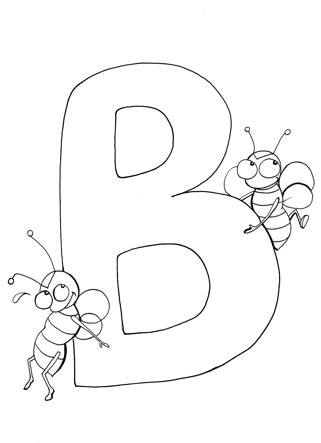 1126x1550 Letter B Coloring Pages For Toddlers Printable Kids
