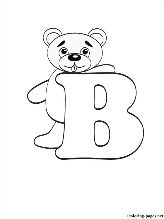 560x750 Letter B Coloring Page Coloring Pages