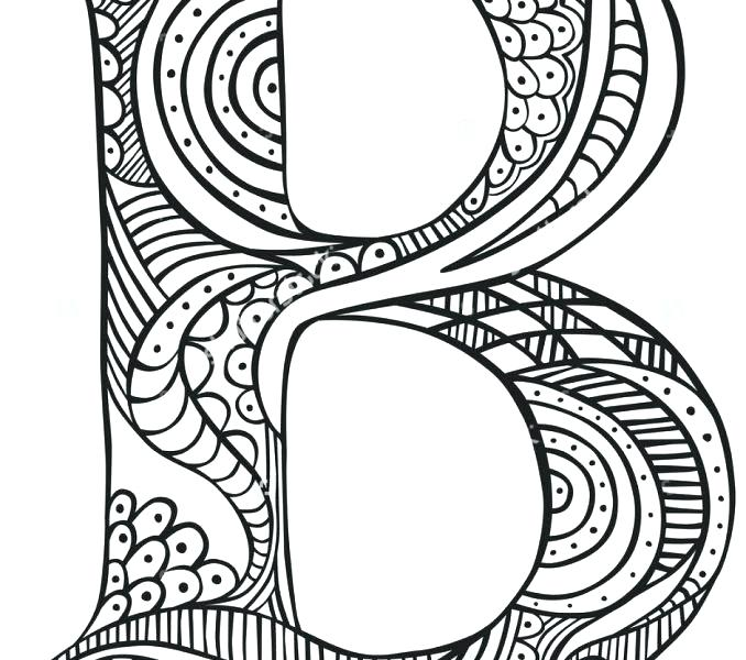 678x600 Letter Coloring Pages Letter B Coloring Page Letter B Coloring
