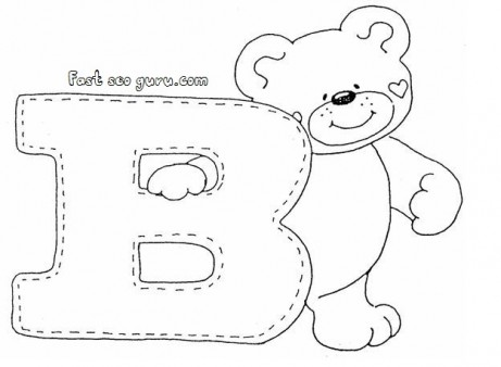 461x338 Print Out Letter B Is For Bear Coloring Pages For Preschoolers