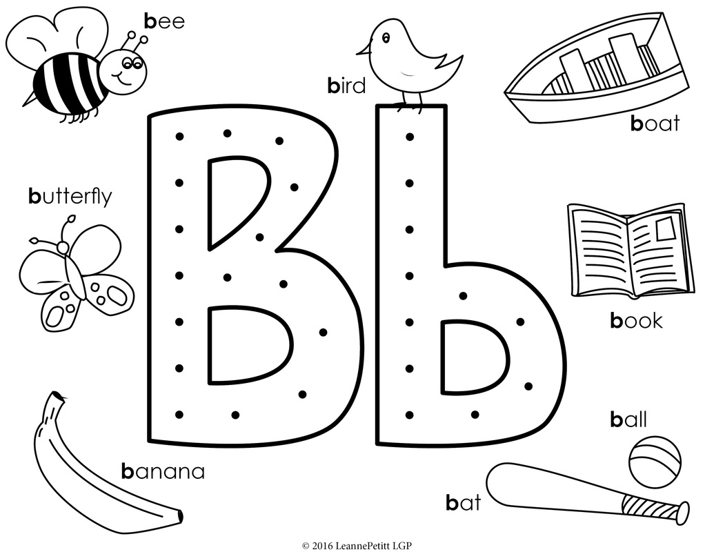 1035x800 Letter B Coloring Pages Pilular Center And For Ball Page Auto