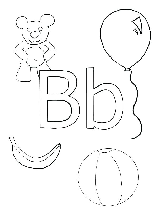 Letter B Coloring Pages For Preschoolers