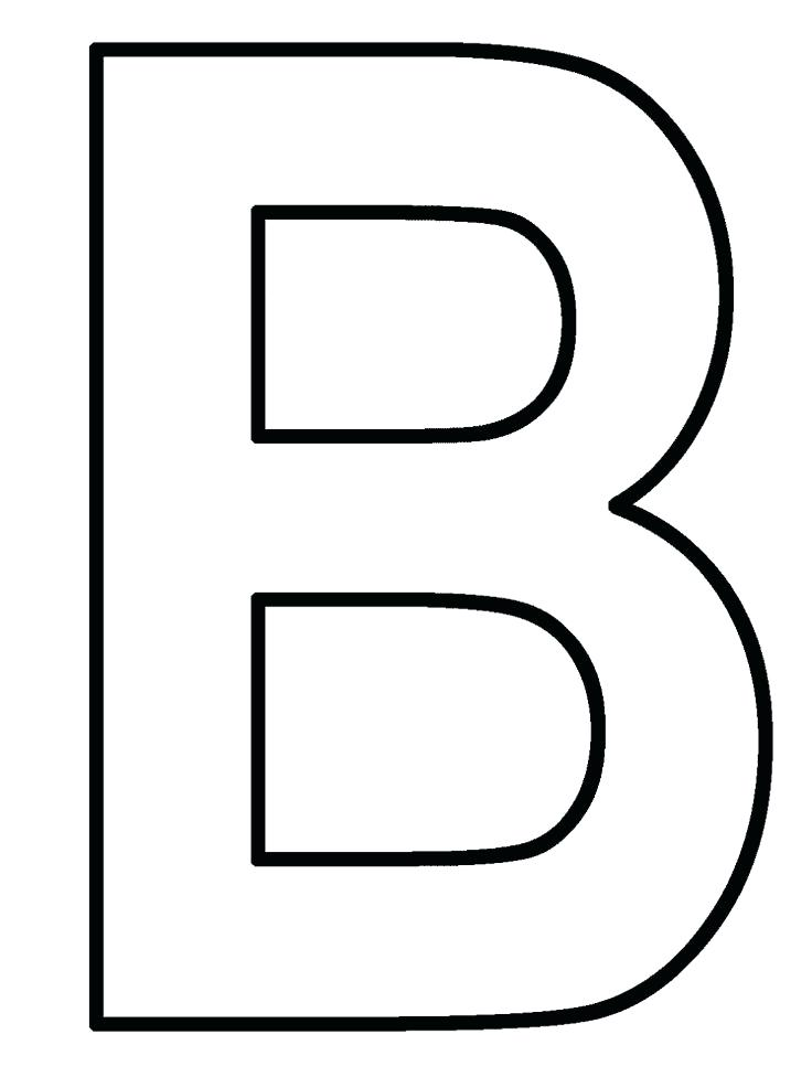 736x976 Letter B Coloring Free Letter B Printable Coloring Pages