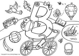320x226 Letter B Colouring Pages Preschool