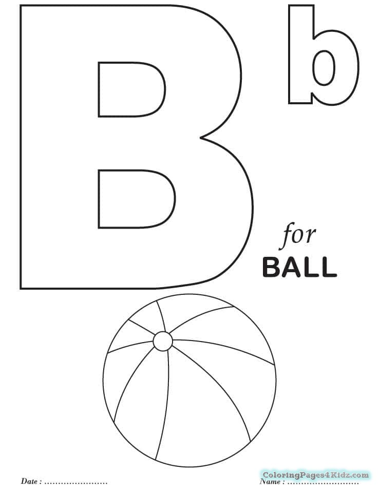 738x954 Toddler Coloring Learning Pages For The Letter B Is For Boat