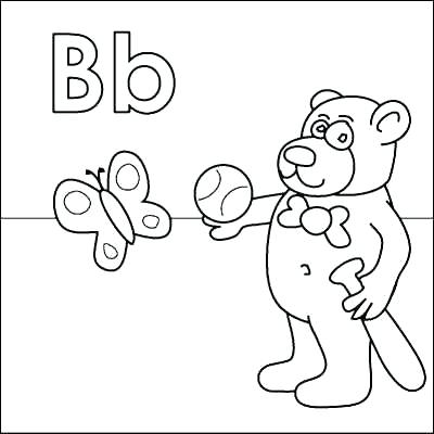 400x400 Letter B Coloring Page B Coloring Pages Printable Letter C