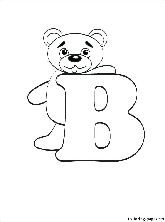560x750 Letter B Coloring Page Toddler Alphabet Coloring Pages Letter