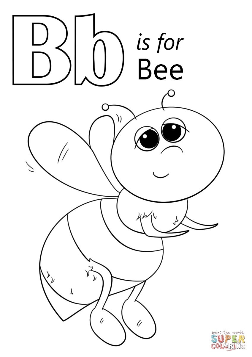 849x1200 Letter B Coloring Pages For Toddlers Free Free Coloring Sheets