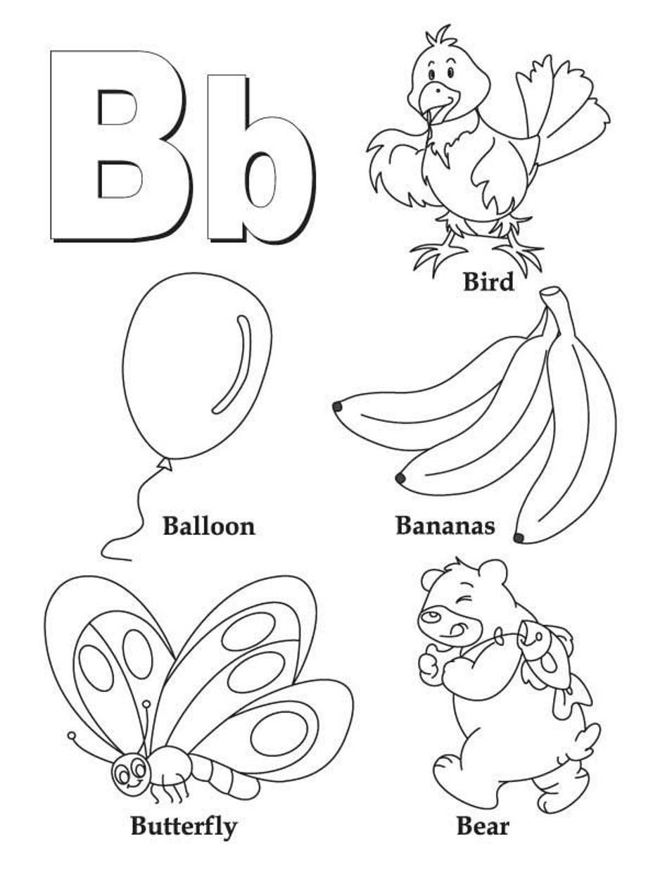 955x1236 Letter B Coloring Pages For Toddlers Printable Coloring For Kids