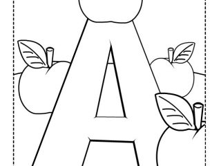 320x240 Preschool Printable Letters Letter A Coloring Pages