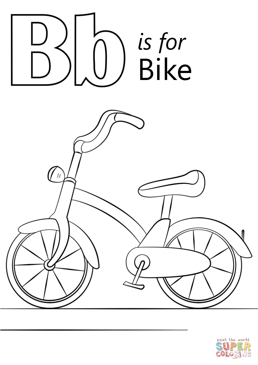 849x1200 Letter B Is For Bike Coloring Page Free Printable Pages Within