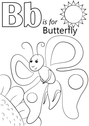 340x480 Letter B Coloring Sheets Printables Alphabet B Coloring Sheets
