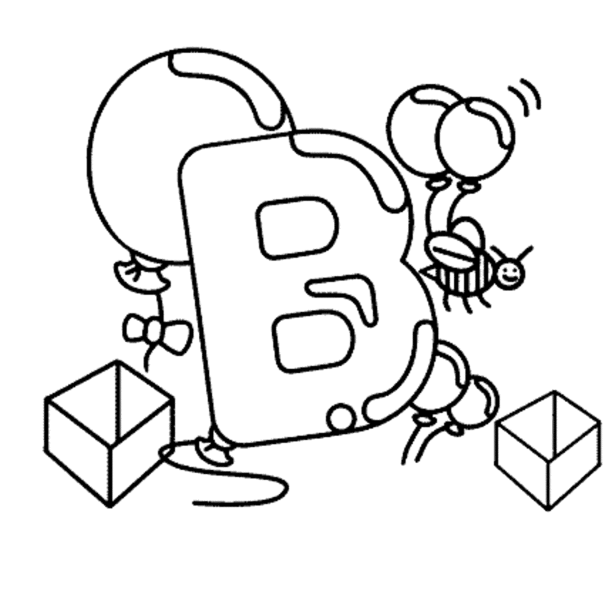 2000x2000 Unique Letter B Coloring Pages Collection Printable Coloring Sheet