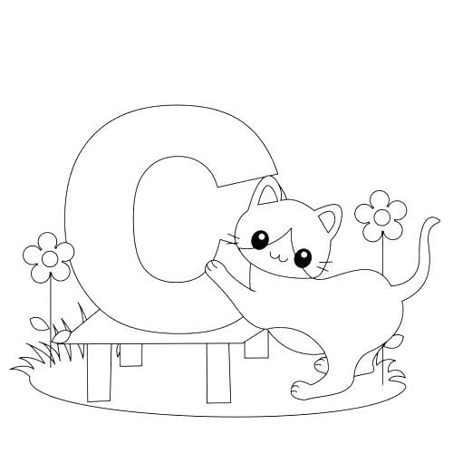 500x500 The Letter B Coloring Page