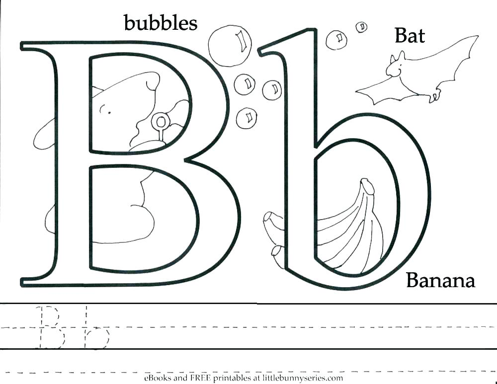 1000x773 Coloring Pages With The Letter B O Coloring Page This Is Letter B