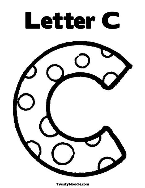 468x605 Letter C Coloring Page From Letters