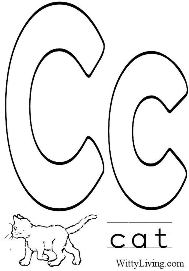 630x900 Letter C Coloring Pages