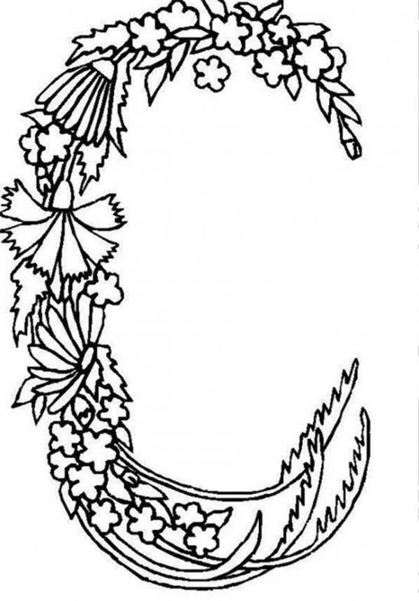 600x859 Alphabet Flowers Letter C Coloring Pages Batch Coloring