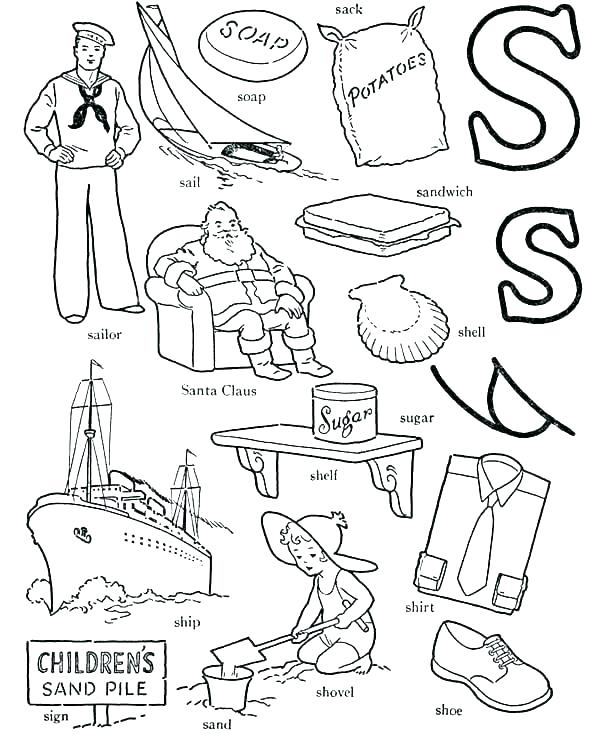 600x734 Letter C Coloring Pages Printable Printable Coloring Letter S